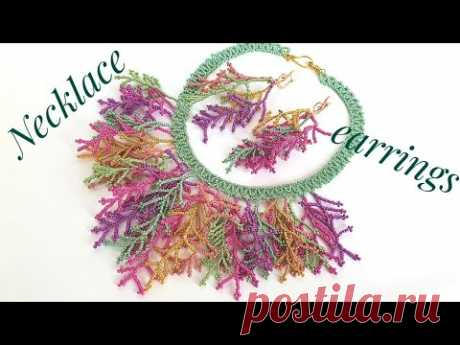 Bead necklace/Diy necklace/Coral stitch//Tutorial/Колье из бисера/Колье своими руками/Натали Амапола