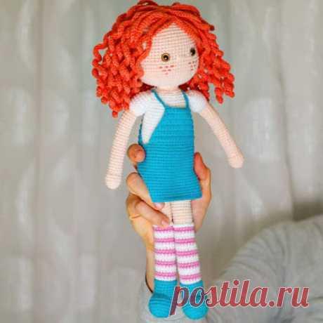 1000 схем амигуруми на русском: Кукла с кудряшками