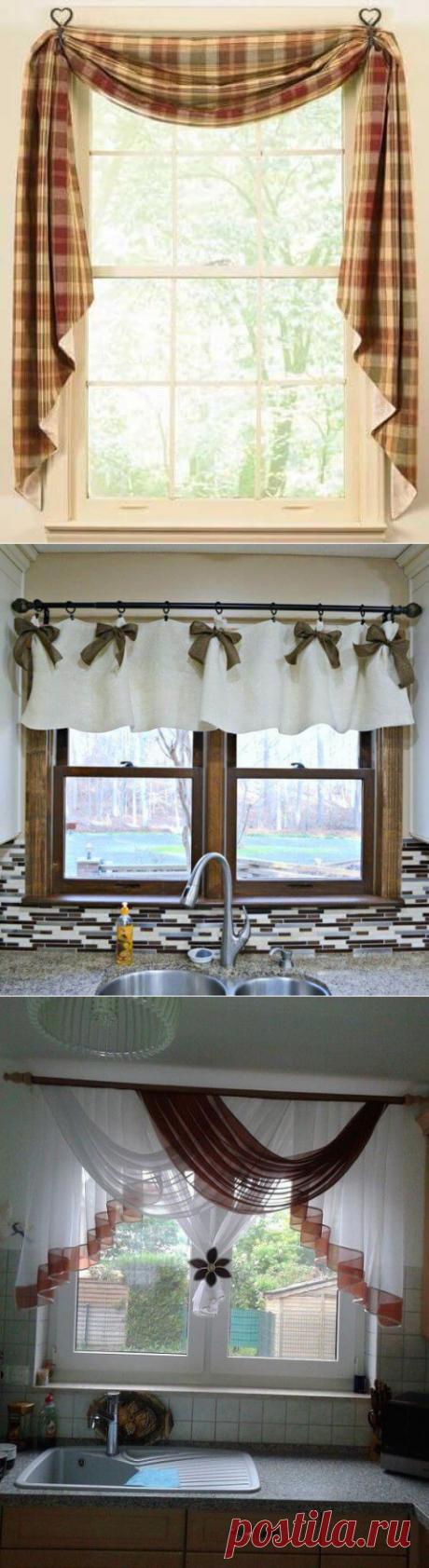 Шторы для кухни. 20 неповторимых идей чтобы обустроить окно на кухне в уникальном стиле | Тысяча и одна идея