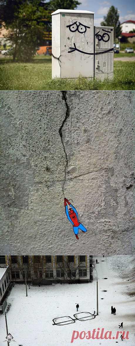 Стрит-арт со всего мира (трафик) / Городская среда (граффити, снеговики, ets) / Модный сайт о стильной переделке одежды и интерьера