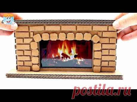 Как развести огонь в картонной коробке? Новогодние поделки своими руками