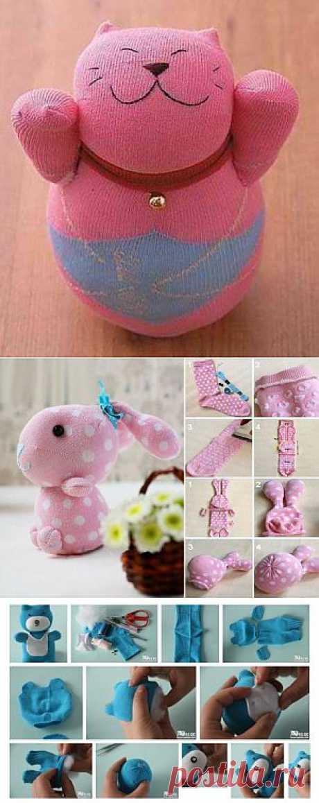 Мягкие игрушки из носков - просто, практично, дешево | Ladies venue