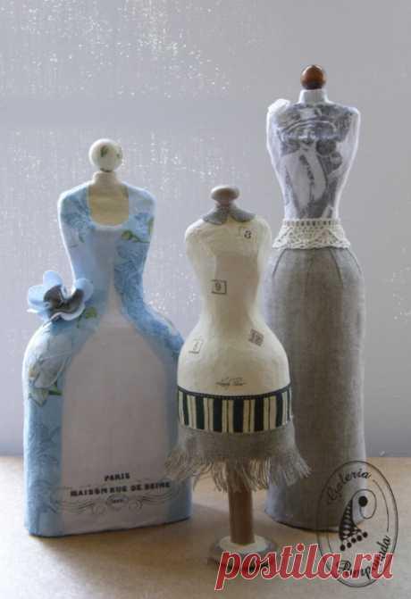 Интересная идея для декора: мини манекены из папье-маше — Сделай сам, идеи для творчества - DIY Ideas