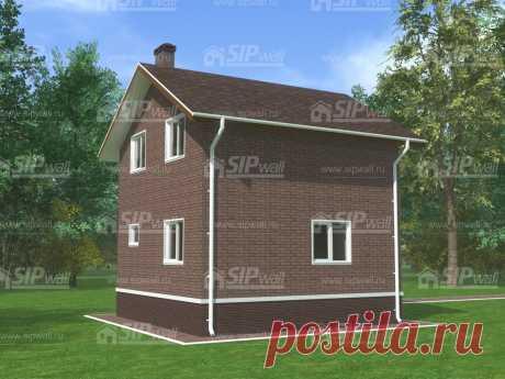 Альфа - проект панельно-каркасного дома из СИП панелей от компании SIPwall (ЭКОПАН).