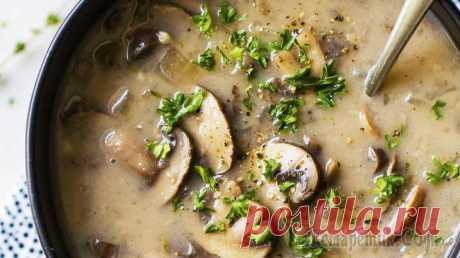Вкуснее борща! Ароматный грибной суп за 15 минут