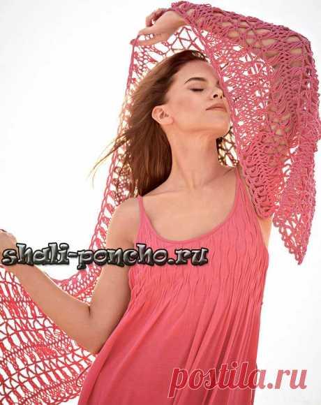Розовый палантин на вилке