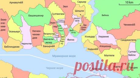 Все районы Стамбула: обзор и карта | Istanbul-life.info