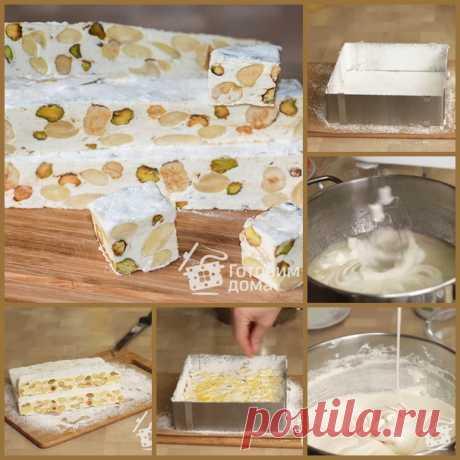 Классическая итальянская нуга - Torrone  мед200 г сахар125 г орехи250 г белок яичный1 шт ваниль1 ч.л. цедра лимона1/2 шт