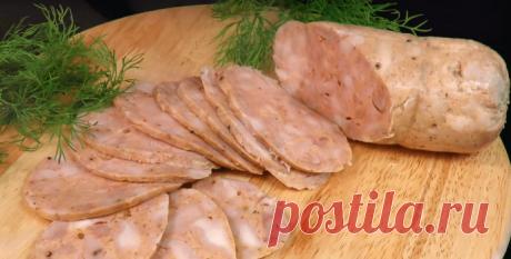 Куриная домашняя колбаса - Пошаговый рецепт с фото