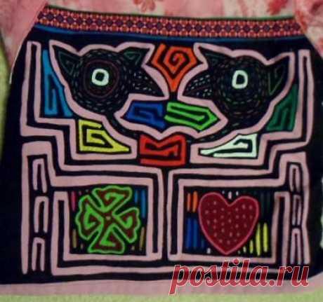 Kuna Tribe Optical Illusion Mola Blouse Panama San Blas-17100506L | eBay