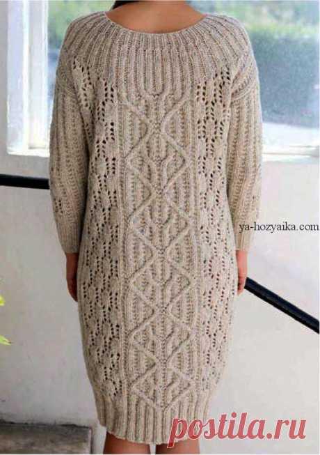 Тёплое платье спицами схема выкройка. Связать теплое платье спицами схемы