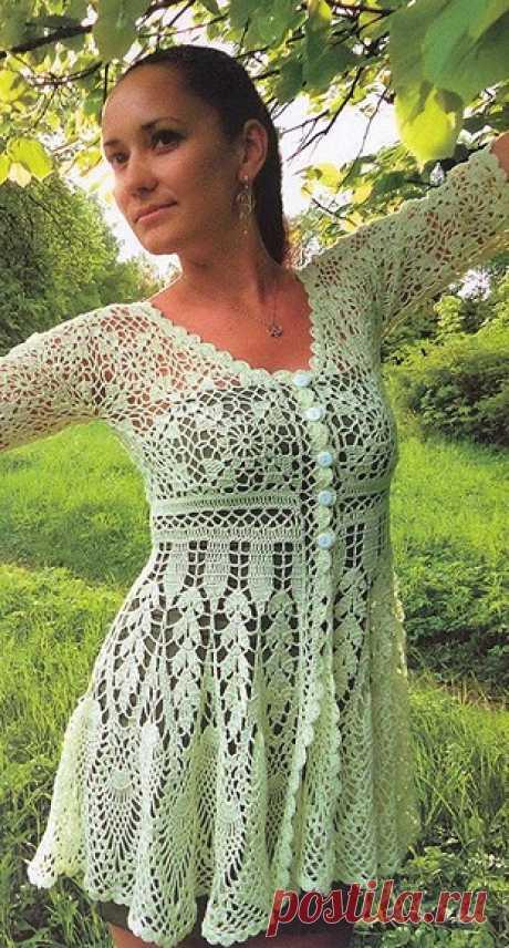 Жакет-туника крючком
