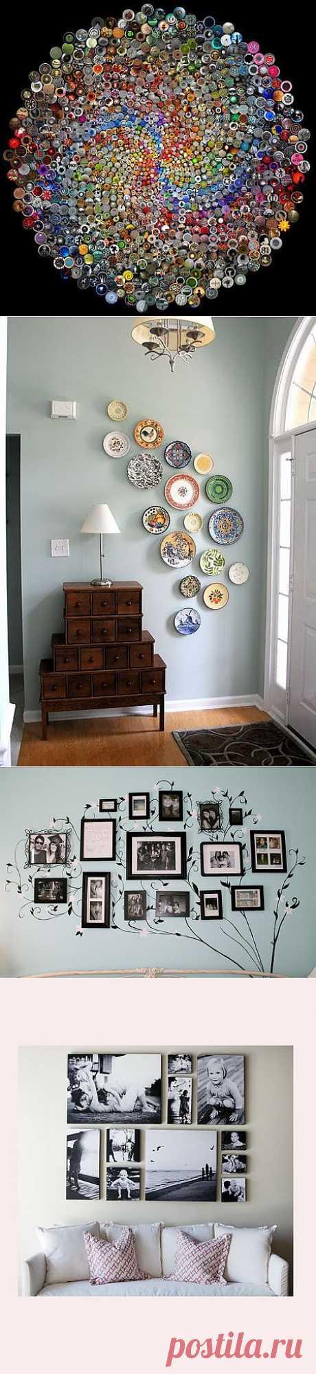 Еще красивых идей по украшению стен: / Декор стен / ВТОРАЯ УЛИЦА