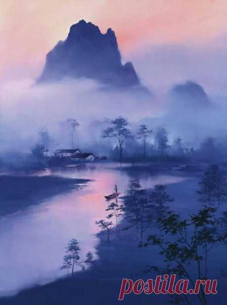 Лян Хунцзянь - Liang Hong Jian или Кен Хон Люн - мастер пейзажа 1 Часть
