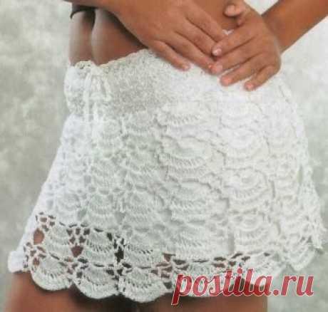 Вязание: красивой юбочки.