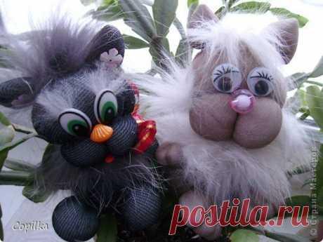 Котики из колготок