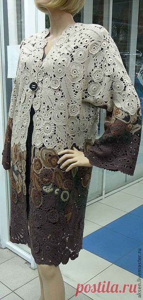 58d40687a42 Верхняя одежда ручной работы. Ярмарка Мастеров - ручная работа. Купить  Пальто летнее. Handmade