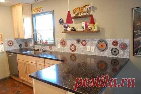Стильные мозаичный фартуки для кухни   Роскошь и уют