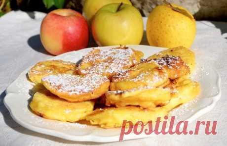 Яблоки в кляре   Если традиционные оладушки вам наскучили, приготовьте яблоки в кляре. Это очень простое, но вкусное блюдо, которое можно подавать на завтрак или десерт.    Ингредиенты:  Яблоко среднее3 шт. Мука125 …