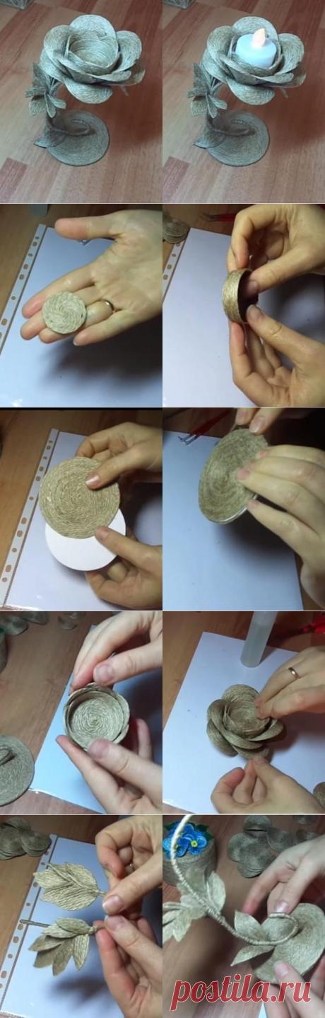 Что можно сделать из обычного джутового шпагата