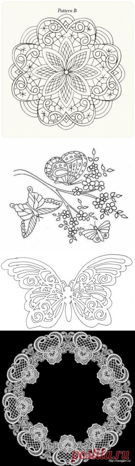 кружевные шаблоны для росписи