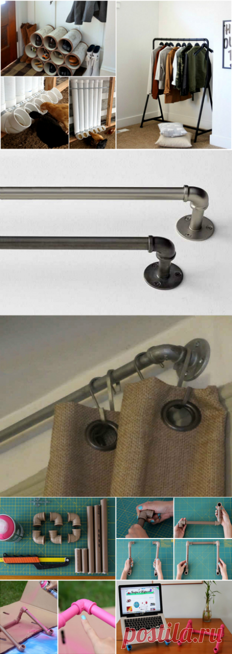 20 гениальных идей альтернативного использования ПВХ-труб в доме и в саду