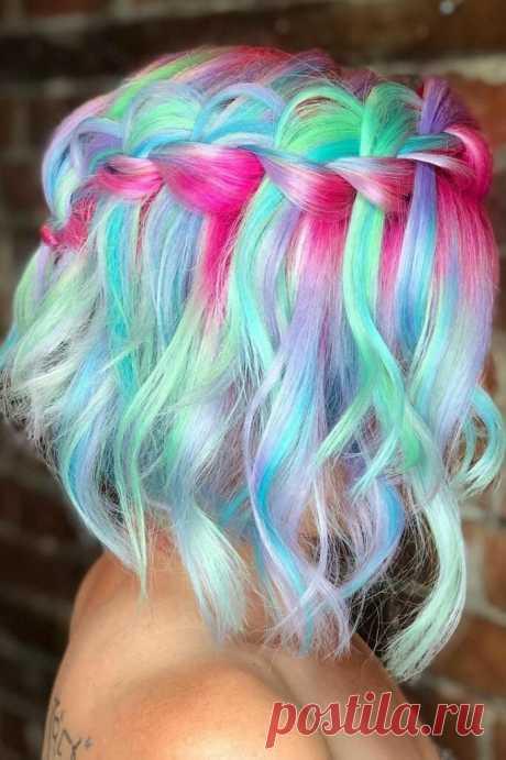 Как Красить Волосы Цветными Мелками.(5 Основных Правил) | КУДРИ-ЛОКОНЫ | Яндекс Дзен