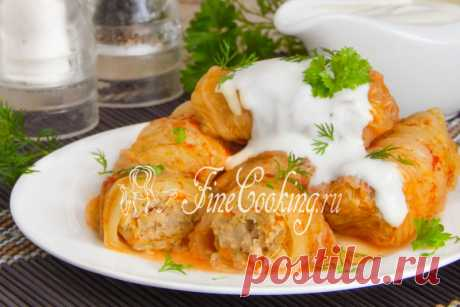 Stuffed cabbage with the Beijing cabbage Today at us in the menu home-made stuffed cabbage with cabbage and forcemeat.