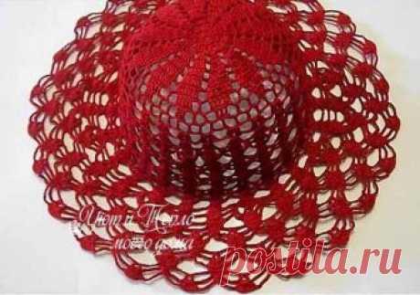 Ажурная летняя шляпка крючком схема фото 590