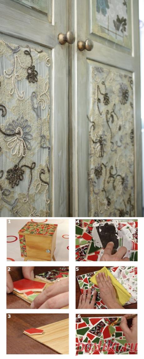 Декупаж мебели: 102 фото оформления шкафчиков, тумб и табуреток