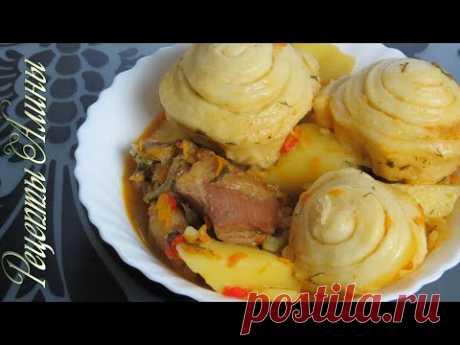 Рецепты Алины. Отличный вариант полноценного ужина. Штрудли с мясом и овощами. - YouTube