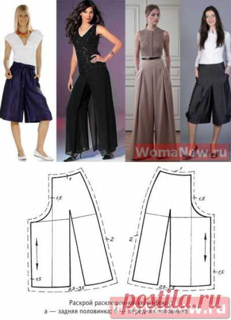 Моделирование юбки-брюк — Сделай сам, идеи для творчества - DIY Ideas