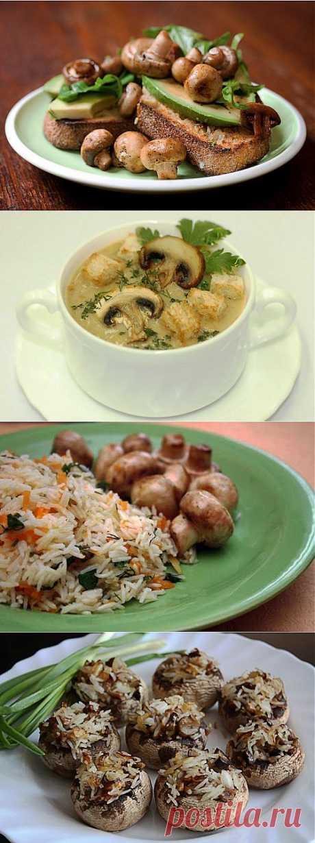 Шампиньоны: рецепты постных блюд / Простые рецепты