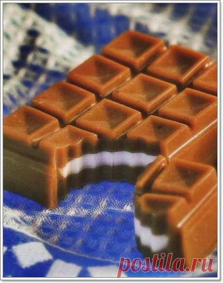 """Мыло ручной работы """"Шоколад""""."""