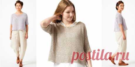 Летний пуловер Leonie - Вяжи.ру