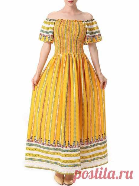 Hot saleZHI Платья для печати чешских шеи Maxi Cheap - NewChic