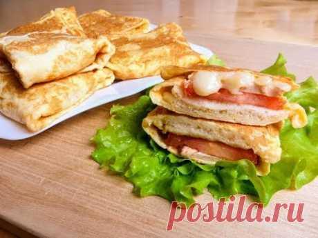 Завернем бутерброд в омлет и получим классный завтрак / Быстрый рецепт горячего бутерброда
