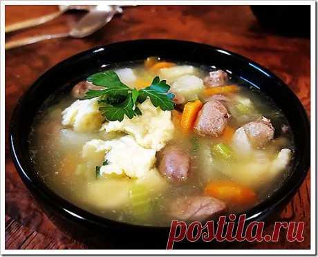 Куриный суп с потрошками | Красота Жизни