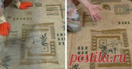 Бабушка поделилась проверенным способ очистить самый грязный ковер без усилий