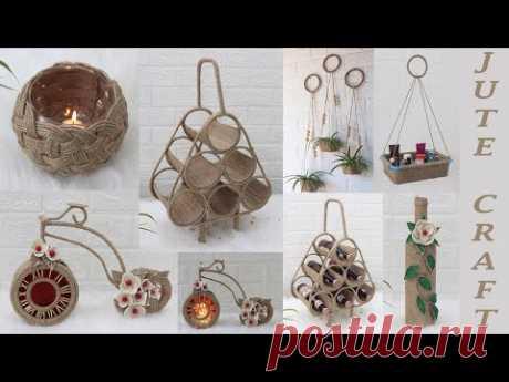 6 Jute craft ideas home decorating ideas handmade 2021 - YouTube