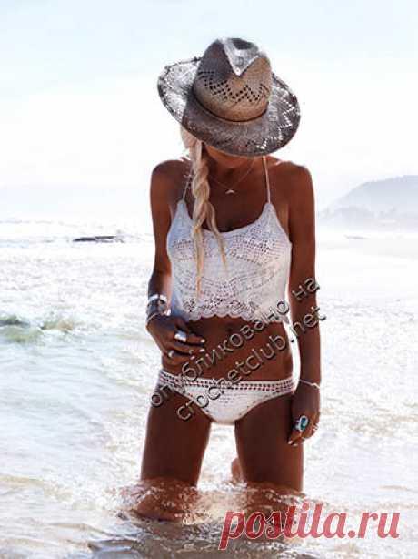 Пляжный комплект крючком - Вязание Крючком. Блог Настика