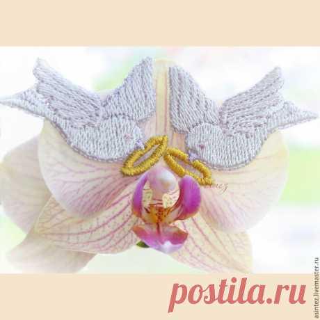 термоаппликация патч Свадебный голубь с обручальным кольцом вышивка – купить в интернет-магазине на Ярмарке Мастеров с доставкой - CTFUNRU   Москва