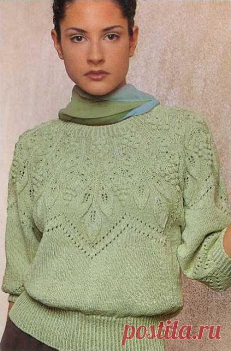 Стильный узорчатый пуловер