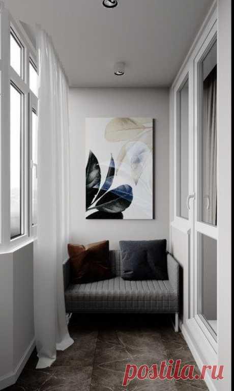 Светлый балкон