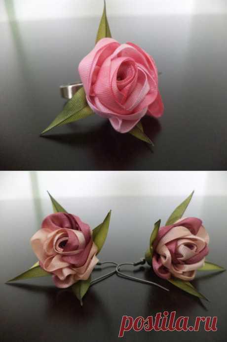 Natalya Gyuden's master class: Graceful rosettes from a silk tape.
