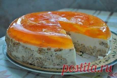 """Торт """"Апельсин"""" (без выпечки)."""