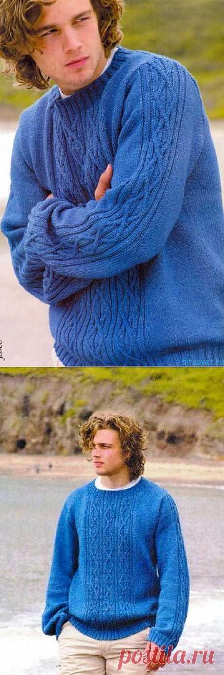 """Джемпер """"Голубая лагуна"""".."""