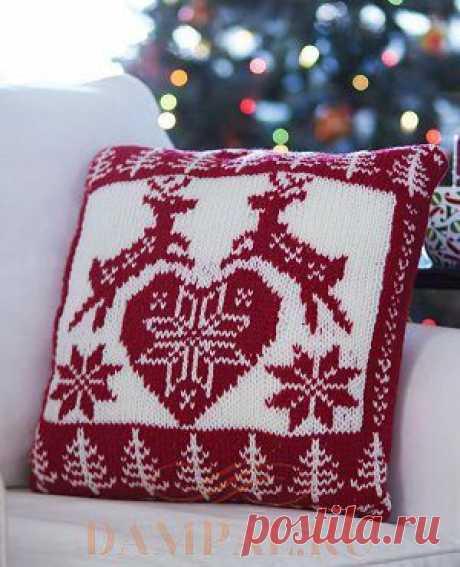 Новогодняя подушка «Nordic Holliday» | DAMские PALьчики. ru