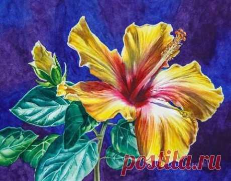 Как нарисовать яркий цветок