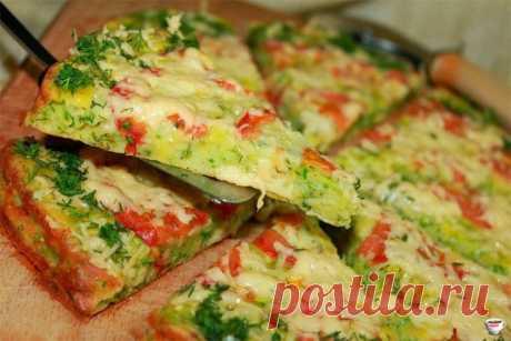 Пицца из кабачка.